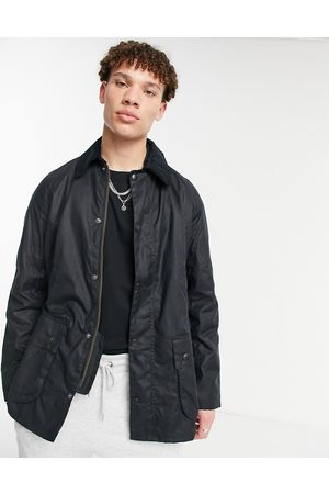 Barbour Ashby wax jacket-Navy