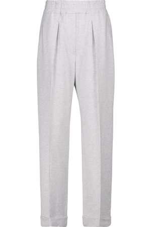Brunello Cucinelli High-rise stretch-cotton pants