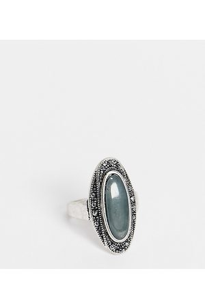 Reclaimed Vintage Women Rings - Inspired burnished ring with stone