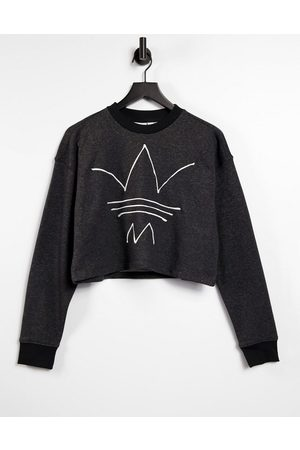 adidas RYV logo cropped sweatshirt in melange
