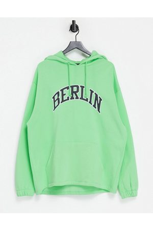 ASOS Oversized hoodie with vintage Berlin chest print
