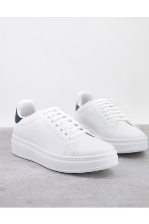 ASOS DESIGN Trainers with chunky sole and contrast heel in