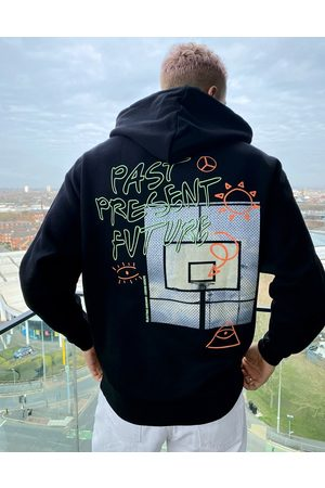 ASOS Oversized hoodie with photographic back print in