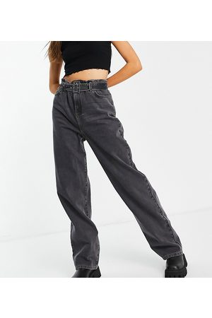 COLLUSION X014 90s baggy dad jeans with belted waist in