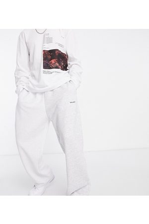 COLLUSION Wide leg spliced joggers with reverse panels in marl co-ord