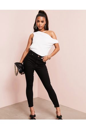 ASOS DESIGN High rise ridley 'skinny' jeans in clean
