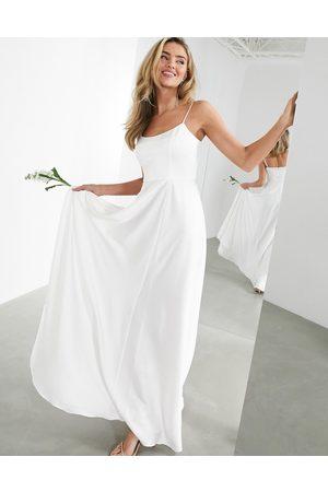 ASOS EDITION Rosie satin cami wedding dress with square neck
