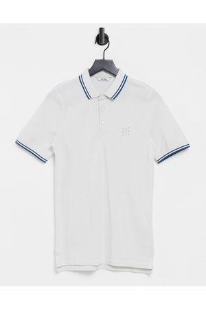 Only & Sons Men Polo Shirts - Short sleeve fitted polo t-shirt in cloud dancer