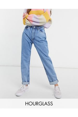 ASOS Hourglass high rise 'slouchy' mom jeans in brightwash