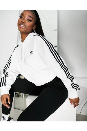 adidas Women Sweatshirts - Adicolor cropped hoodie in