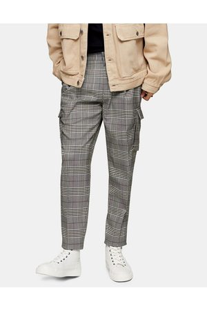 Topman Tapered smart cargo trousers in
