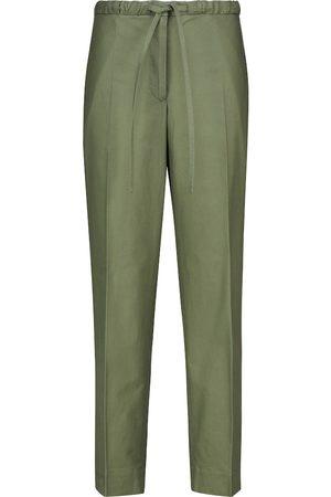Jil Sander Women Pants - High-rise straight cotton pants