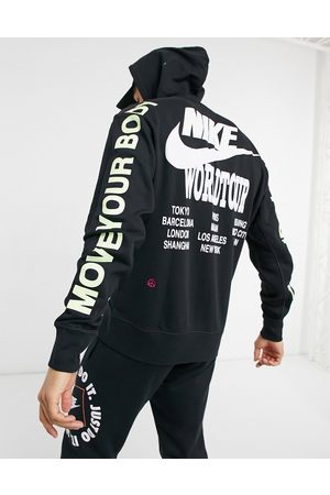 Nike World Tour Pack graphic hoodie in