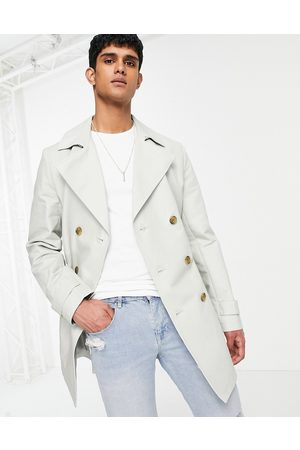 ASOS DESIGN Shower resistant double breasted trench coat in