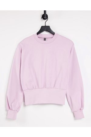 Pieces Sweater with deep waistband in