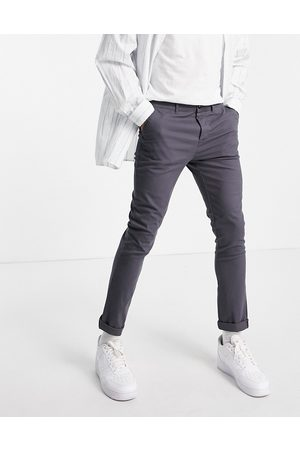 ASOS Skinny chinos in charcoal
