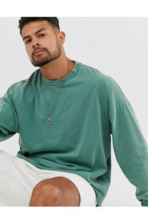 ASOS Oversized boxy long sleeve t-shirt in acid wash
