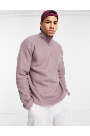 New Look Half zip fleece sweat in