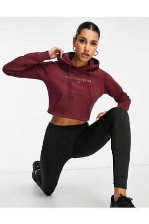Pink Soda Sport Ruby cropped hoodie in burgundy