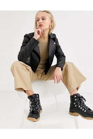 SELECTED Women Leather Jackets - Femme leather jacket in