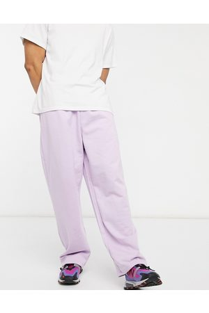 ASOS Organic super oversized joggers with toggle hem in lilac