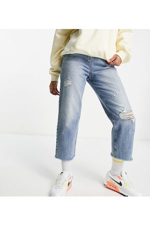COLLUSION X005 90s cropped straight leg jeans in washed