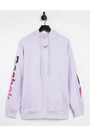 Reebok Hoodie in lilac with vector arm detail