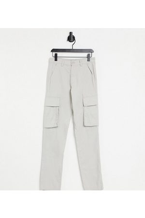 French Connection Tall slim fit cargo trousers in stone-Neutral