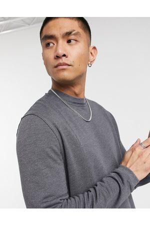 ASOS Men Sweatshirts - Super soft viscose sweatshirt with seam detail in washed