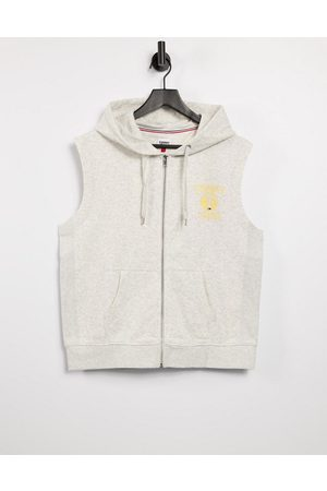 Tommy Hilfiger Sleeveless logo hoodie in
