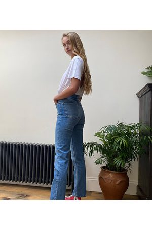 ASOS ASOS DESIGN Tall high rise stretch 'slim' straight leg jeans in vintage midwash