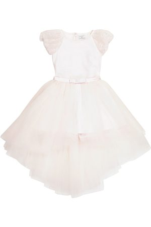 MONNALISA Girls Playsuits - Lace playsuit with tulle skirt