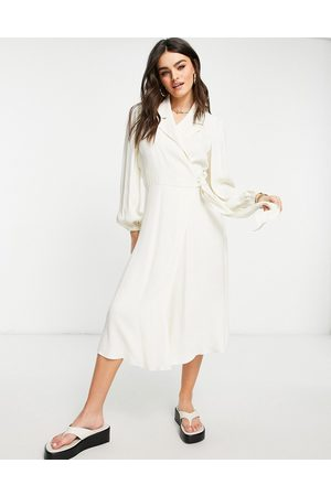 Ghost Tansy long sleeved dress In ivory