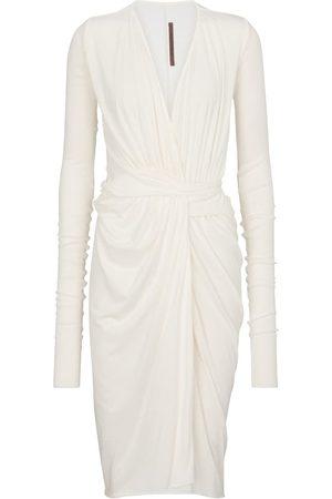 Rick Owens Women Midi Dresses - Lilies draped midi dress