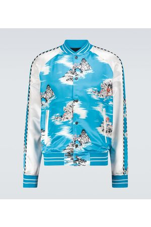 AMIRI Hawaiian silk-blend bomber jacket