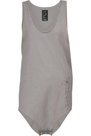 Rick Owens Women Short Sleeve - X Champion® cotton jersey bodysuit