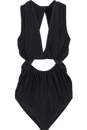 Rick Owens Cutout mesh and stretch-jersey bodysuit