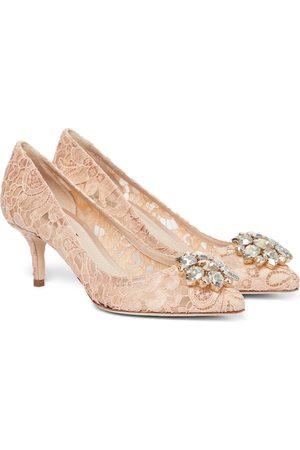 Dolce & Gabbana Women Shoes - Bellucci embellished lace pumps