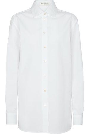 Saint Laurent Oversized cotton poplin shirt