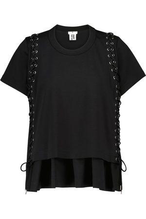 NOIR KEI NINOMIYA Embellished cotton jersey T-shirt