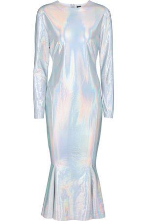 Norma Kamali Crew fishtail midi dress