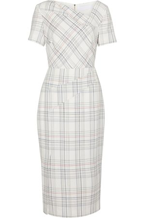 Roland Mouret Darland checked midi dress