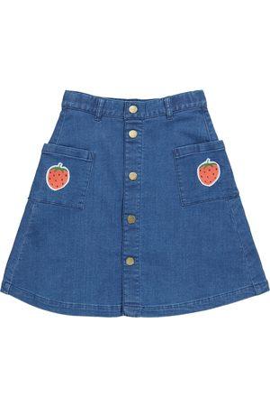 Mini Rodini Girls Denim Skirts - Stretch-denim skirt