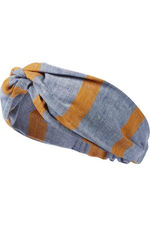 PAADE Girls Headbands - Sasha striped linen and cotton headband