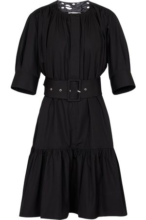 Chloé Belted cotton poplin minidress