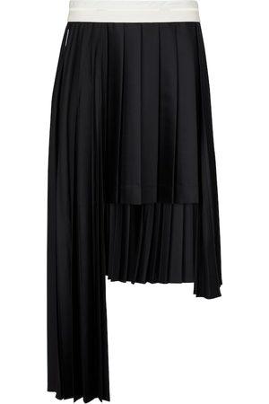 Peter Do Pleated asymmetric wool midi skirt
