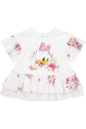 MONNALISA X Disney® Baby printed cotton T-shirt