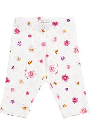 MONNALISA Baby printed stretch-cotton leggings