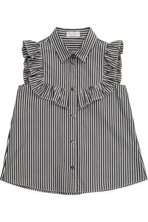 Brunello Cucinelli Striped cotton blouse
