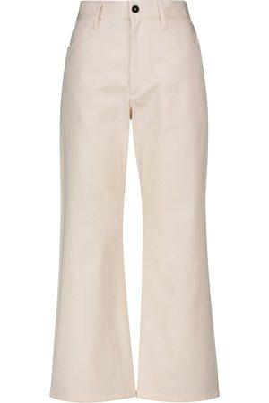 Jil Sander High-rise cotton bootcut pants